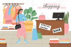 Shopping woman characters Product Image 1