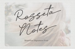Rosseta Notes - Monoline Signature Fonts Product Image 1