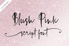 Blush Pink Handwritten Script Font Product Image 2