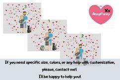 Mini bottle cross stitch pattern PDF, Mason jar Xstitch fox Product Image 3