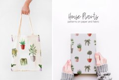 Watercolor House Plants Patterns Product Image 4