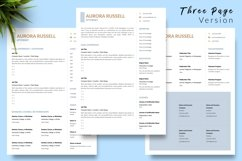 Legal Resume CV Template for Word & Pages Aurora Russell Product Image 4
