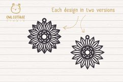 Sunflower Earrings mini SVG Bundle, Sunflower Clipart, Earri Product Image 5