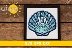 3D Layered Sea shell Mandala SVG 5 layers Product Image 1