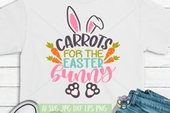 Happy Easter svg, Carrots for the Easter Bunny svg, Cricut Product Image 1