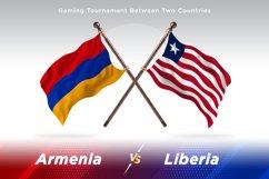 Armenia versus Liberia Two Flags Product Image 1