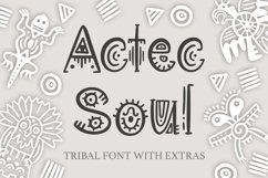 Aztec Soul. Tribal font with extras. Product Image 1