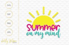 Summer On My Mind SVG File Product Image 2