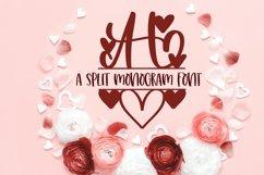 Web Font A Heart Split Monogram Font Product Image 2