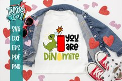 Dinomite SVG / Dinosaur svg / Valentine SVG Product Image 1