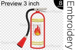 Applique Extinguisher - Embroidery Files - 1496e Product Image 2
