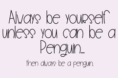 Penguin Farts - A Fun Handwritten Font Product Image 3