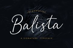 Balista - A Signature Typeface Product Image 1