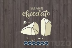I love Chocolate SVG PNG Eps. Handwritten lettering quote Product Image 1