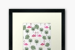 Valentines day seamless pattern Pink flamingo digital paper Product Image 9