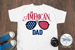 All American Dad - 4th of July svg - Memorial Day svg Product Image 2