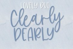 Clearly, Dearly - A lovely Script & San Serif font duo Product Image 1