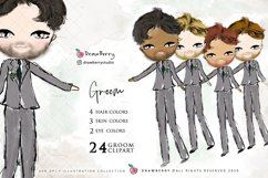 Wedding Clipart Bride & Groom PNG | Drawberry CP017 Product Image 3