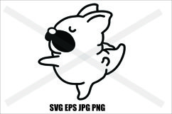 Pug Cute- SVG-EPS-JPG-PNG Product Image 1