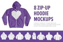 8 Premium Zip-Up Hoodie Mockups Product Image 1