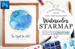 Watercolor StarMap Poster Creator Product Image 1