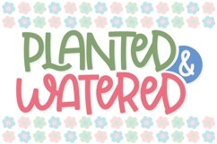 Planted & Watered - A Fun Little Font with Ligatures Product Image 1