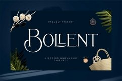 Bollent - Modern And Luxury Typeface Product Image 1
