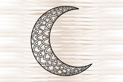Moon mandala, mandala svg, zentangle svg Product Image 5