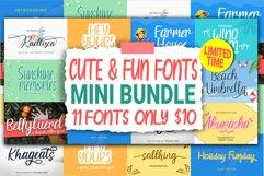 Cute & Fun Fonts Mini Bundle Product Image 1