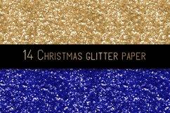 Christmas glitter digital paper Product Image 3