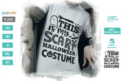 This is My Scary Halloween Costume SVG Cut File Product Image 1