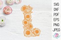 Floral Sunflower Letter L Product Image 5