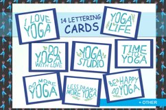 Yoga with girl - set of illustrations with asana Product Image 2