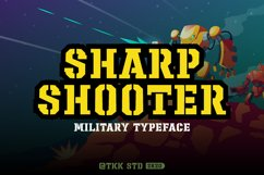 Sharpshooter - Military Stencil Font Product Image 1
