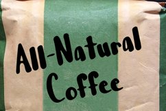 Shot of Coffee Bold and Thick Handwritten Font Product Image 2