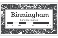 Birmingham Great Britain City Map in Black and White Product Image 1