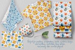 Watercolor Rain Digital Paper Pack. Spring Seamless Patterns Product Image 4