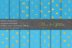 Blue Glitter Geometric Digital Papers Product Image 1