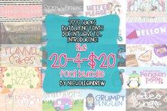The 20-4-$20 Font Bundle - Includes 20 Handwritten Fonts Product Image 1