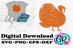 Distressed Turkey- Turkey SVG- Cricut File- Turkey Product Image 1