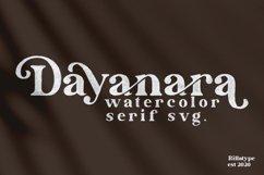 Dayanara - Watercolor SVG Product Image 1