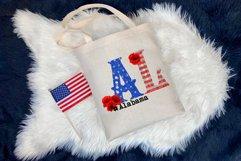 State abbreviation. USA sublimation. Alabama Product Image 2