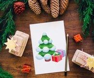 Christmas tree. Christmas gift box. Christmas snow globe Product Image 2