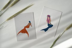 Abstract mermaids, vector illustration, magical creatures Product Image 4
