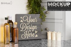 Instant mock up Wood Sign Kitchen Cutting Board Product Image 1