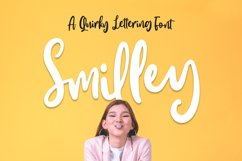 Smilley - Quirky Lettering Font Product Image 1