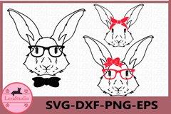 Happy Easter Svg, Bunny Svg, Boy Bunny SVG, Girl Bunny Svg Product Image 1