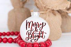 Christmas Ornament Sublimation Design Bundle Handlettered Product Image 4