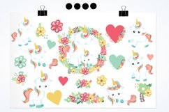 Floral unicorn graphics and illustrations Product Image 2