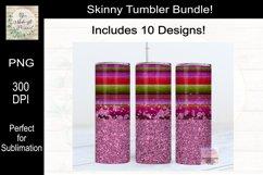 Leopard, Serape and Glitter Sublimation Tumbler Bundle Product Image 2